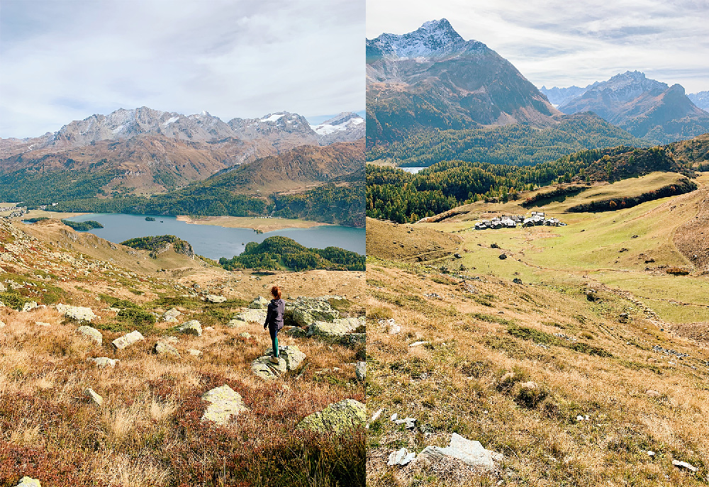 1-Waldhaus-Sils-Herbstwanderung-Engadin Waldhaus Sils - Hiking & Wellness Weekend in Autumn