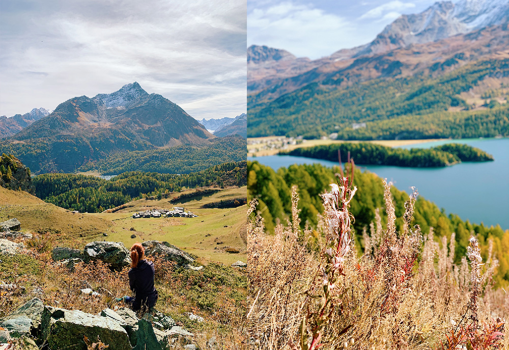 3-Waldhaus-Sils-Herbstwanderung-Engadin Waldhaus Sils - Hiking & Wellness Weekend in Autumn